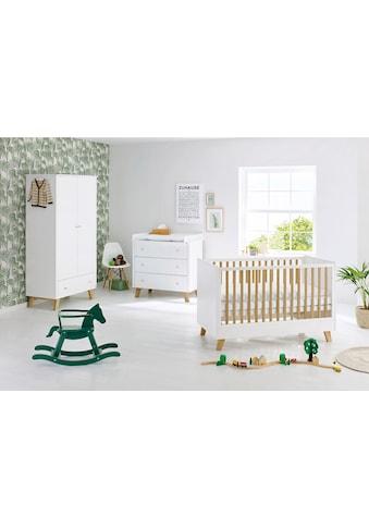 Pinolino® Babyzimmer-Komplettset »Pan«, (Set, 3 St.), breit; mit Kinderbett, Schrank... kaufen