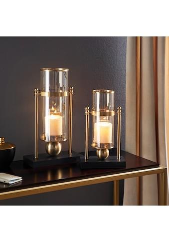 Leonique Windlicht, Kerzenhalter aus Glas und Metall kaufen