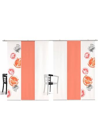 Schiebegardine, »Rondo farbig«, emotion textiles, Klettband 6 Stück kaufen