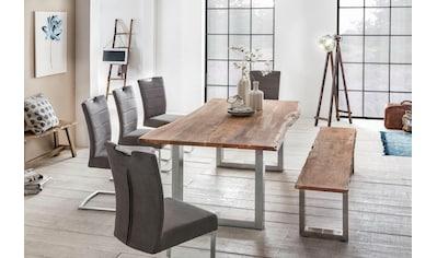 Premium collection by Home affaire Esstisch »Manhattan«, mit echter Baumkante kaufen