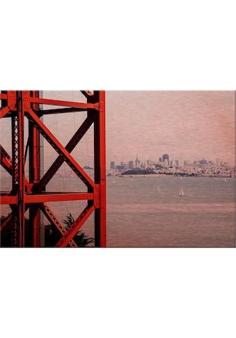 Alu - Dibond - Druck »Vor den Toren von San Francisco« kaufen