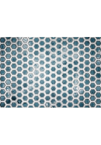 Consalnet Vliestapete »Blaue Sechsecke«, geometrisch kaufen