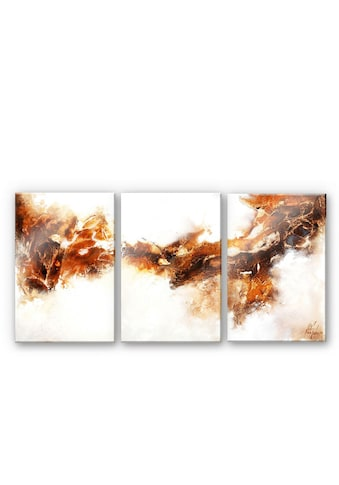 Wall-Art Mehrteilige Bilder »Flüssiges Gold (3-teilig)«, (Set, 3 St.) kaufen