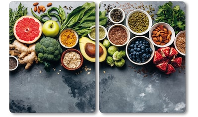 """KESPER for kitchen & home Herdblende - /Abdeckplatte """"Healthy Kitchen"""", ESG - Sicherheitsglas, (Set, 2 - tlg.) kaufen"""