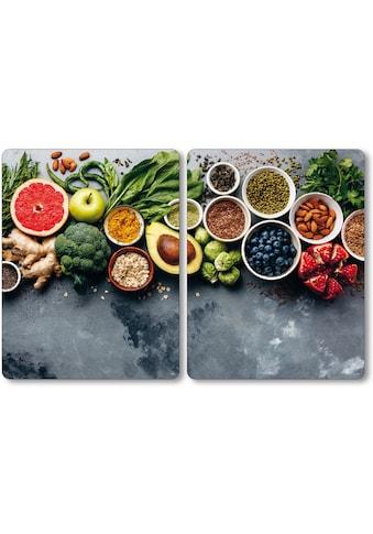 KESPER for kitchen & home Herdblende-/Abdeckplatte »Healthy Kitchen«, (Set, 2 tlg.) kaufen