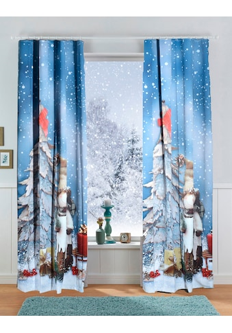 Verdunkelungsvorhang, »SNOWMAN«, Lüttenhütt, Kräuselband 1 Stück kaufen