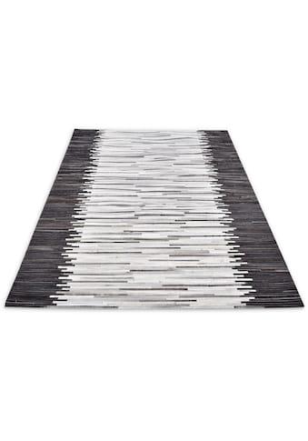 THEKO Fellteppich »Kobe-Streifen«, rechteckig, 3 mm Höhe, Patchwork, handgenäht,... kaufen