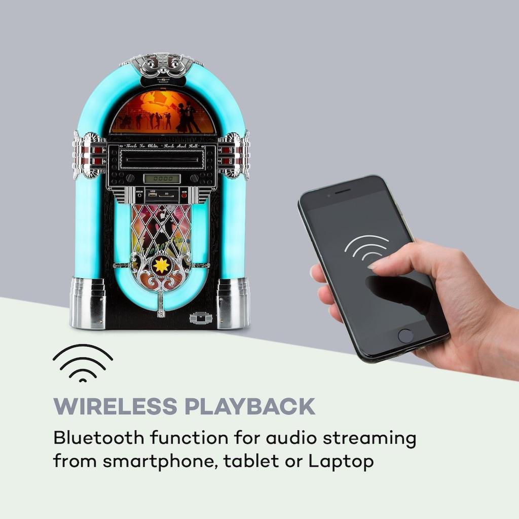 Auna Jukebox, BT, UKW-Radio, USB, SD, MP3, CD-Player
