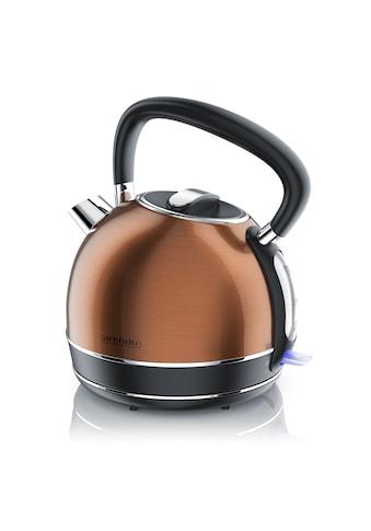Arendo Vintage Retro Style Edelstahl - Wasserkocher im Kupfer Design »1,7 Liter / Trockenkochschutz« kaufen