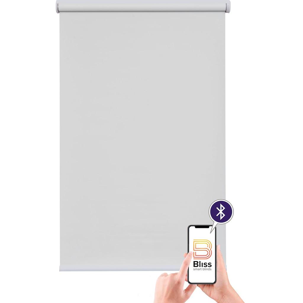 sunlines Elektrisches Rollo »Akkurollo«, Lichtschutz, Sichtschutz, mit Bohren, appgesteuert via Bluetooth, weißer Fallstab
