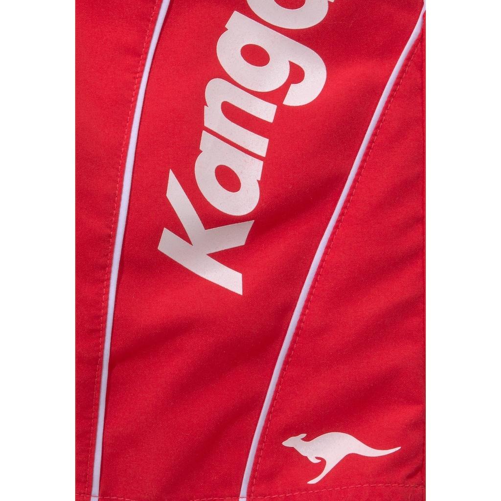 KangaROOS Badeshorts, mit Kangaroos Schriftzug
