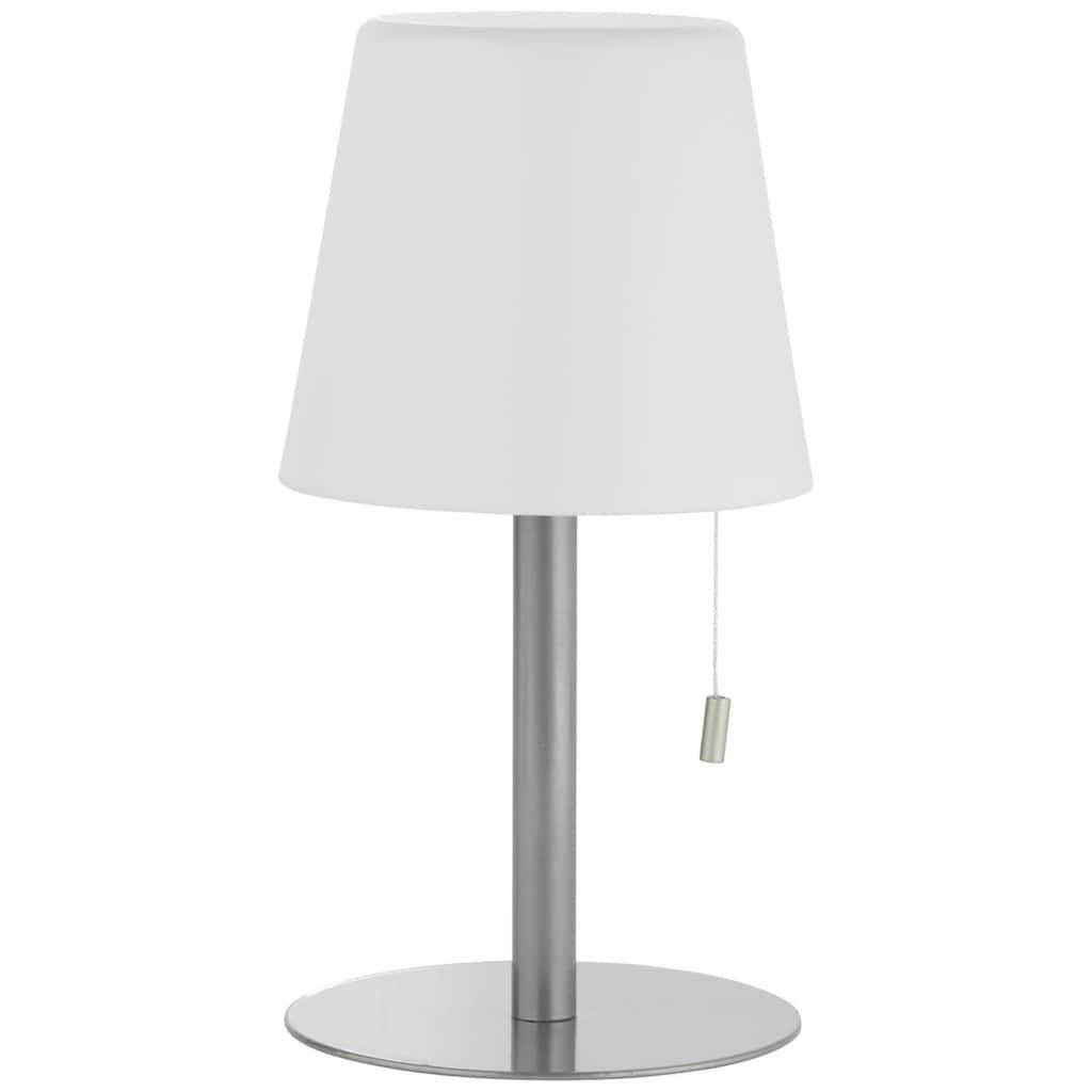 Brilliant Leuchten Außen-Tischleuchte, Punto LED Außentischleuchte weiß/grau