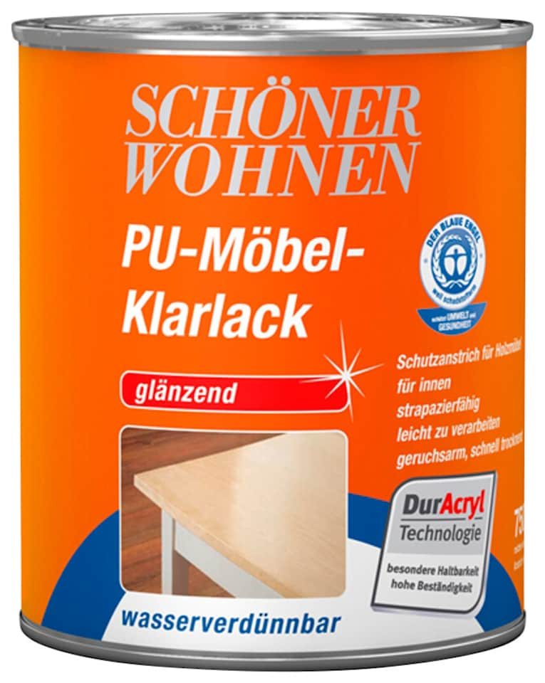 SCHÖNER WOHNEN FARBE Klarlack »PU-Möbel-Klarlack «, glänzend, 750 ml