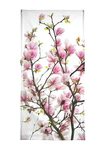 Juniqe Handtuch »Magnolia Pink 2«, (1 St.), Weiche Frottee-Veloursqualität kaufen