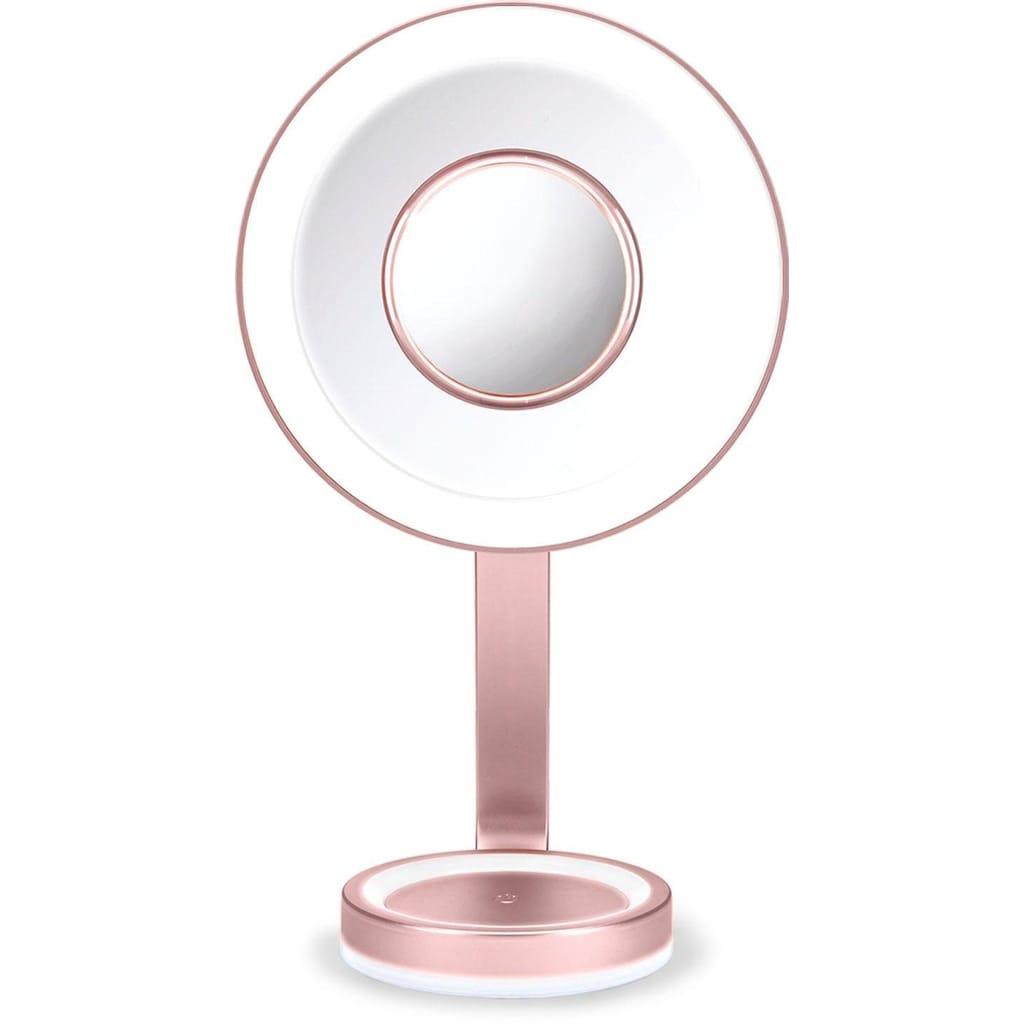 BaByliss LED-Lichtspiegel, mit abnehmbarem Vergrößerungsspiegel