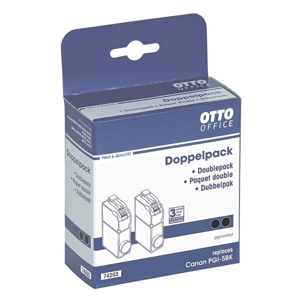 Otto Office Doppelpack Tintenpatrone ersetzt Canon »PGI-5BK«