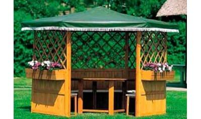 promadino Pavillon »Marburg«, BxT: 309x309 cm, inkl. Sitzgruppe und Brüstung kaufen