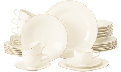 Seltmann Weiden Kombiservice »Medina Goldlinie« (30-tlg), Porzellan, mit feinen... kaufen