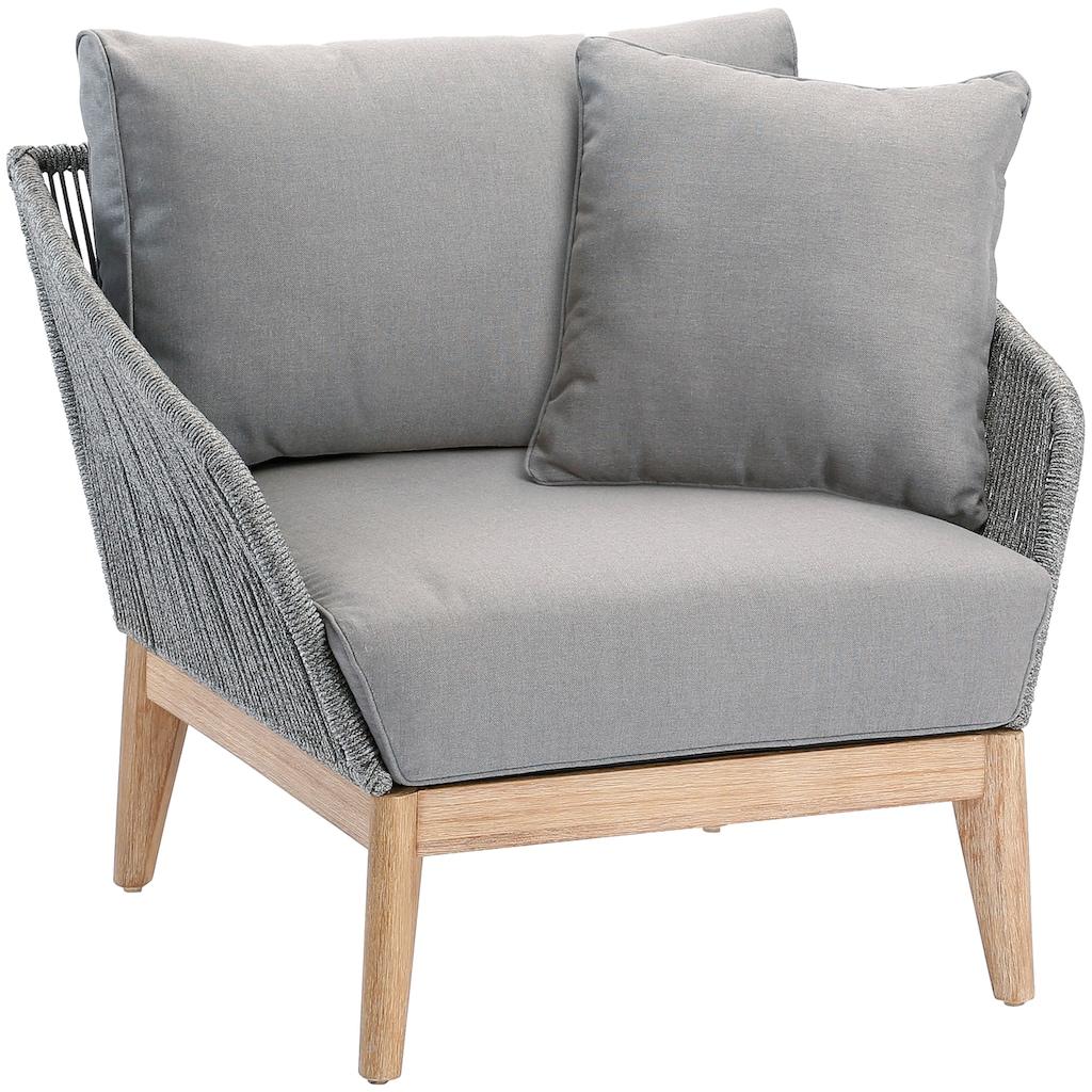 Best Loungesessel »Lounge Sessel Samos Grandis«, Eucalyptus, inkl. Auflagen