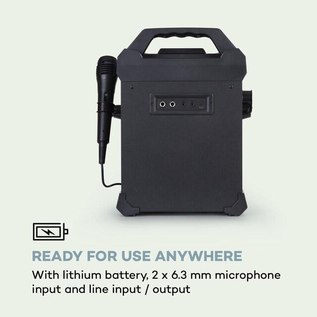 Auna Karaokeanlage BT USB Line-In/Out 2 x 6,3mm »Rockstar Light«