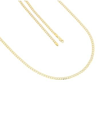 Firetti Goldkette »Panzerkettengliederung, 3 mm breit, diamantiert, rhodinierte Struktur, bicolor, massiv« kaufen