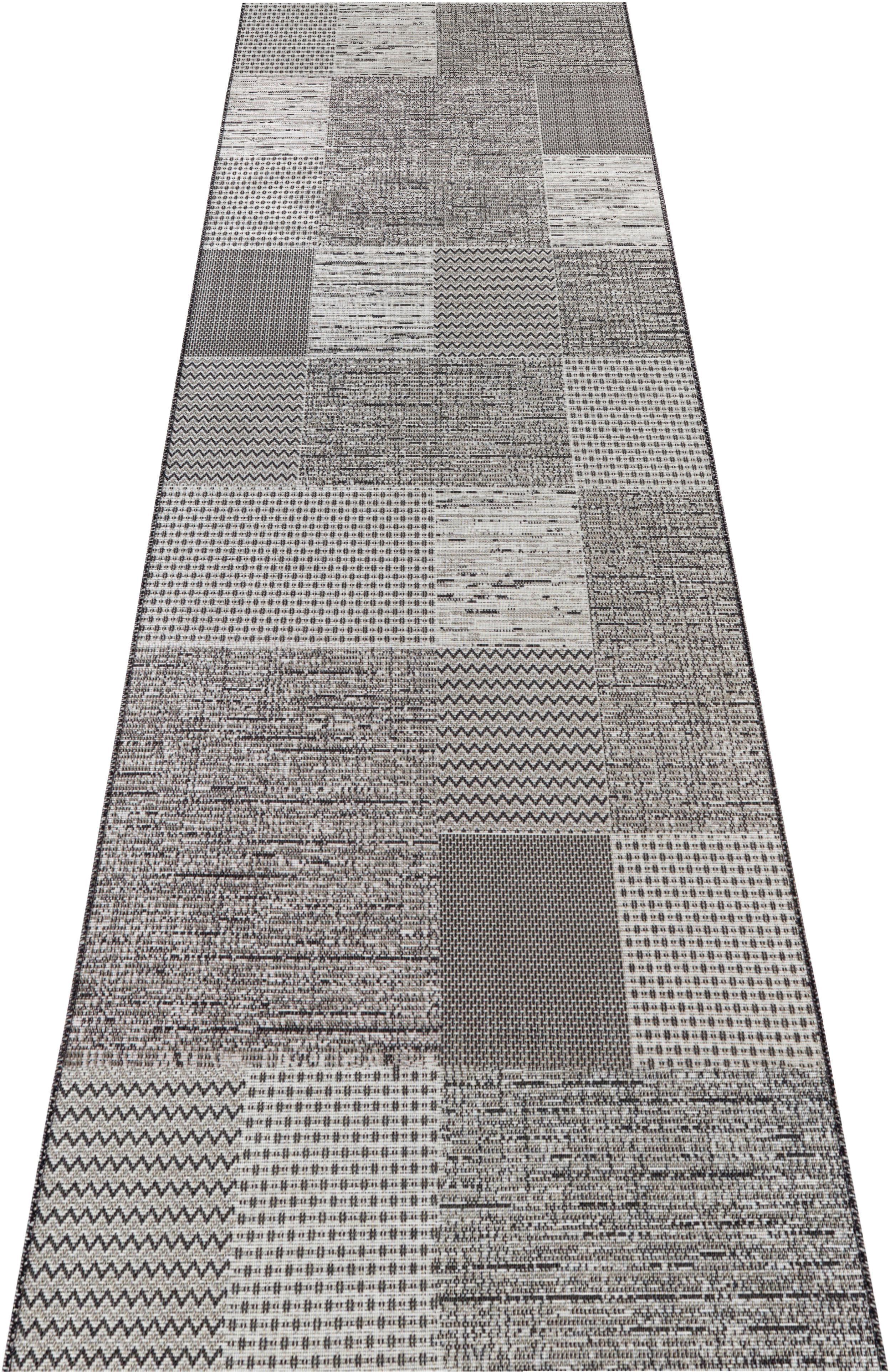 Läufer, »Agen«, ELLE Decor, rechteckig, Höhe 3 mm, maschinell gewebt   Heimtextilien > Teppiche > Läufer   Grau   ELLE DECOR