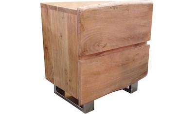 SIT Nachtkommode »Albero«, massive Akazie, mit Baumkante kaufen