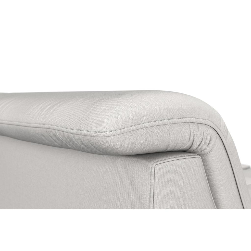 """sit&more Ecksofa, wahlweise mit Bettfunktion, Stauraum und Kopfteilverstellung, auch erhältlich in dem besonders leicht mit Wasser zu reinigendem """"Soft clean"""" Bezug"""