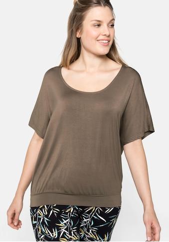 Sheego Oversize-Shirt, in legerer Form mit Häkeleinsatz kaufen