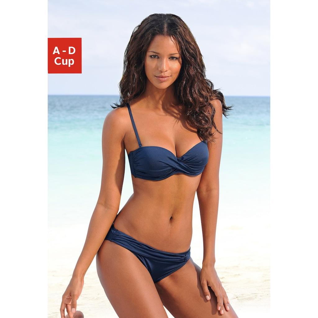 LASCANA Bügel-Bandeau-Bikini, mit verschiedenen Trägervarianten