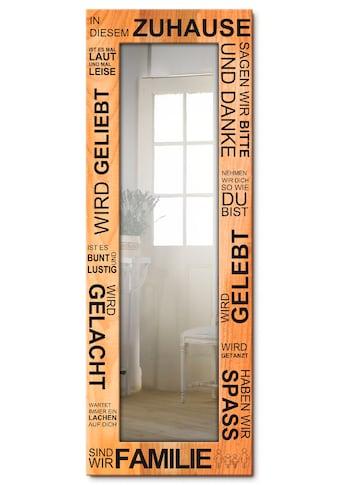 Artland Wandspiegel »In diesem Zuhause - braun«, gerahmter Ganzkörperspiegel mit... kaufen