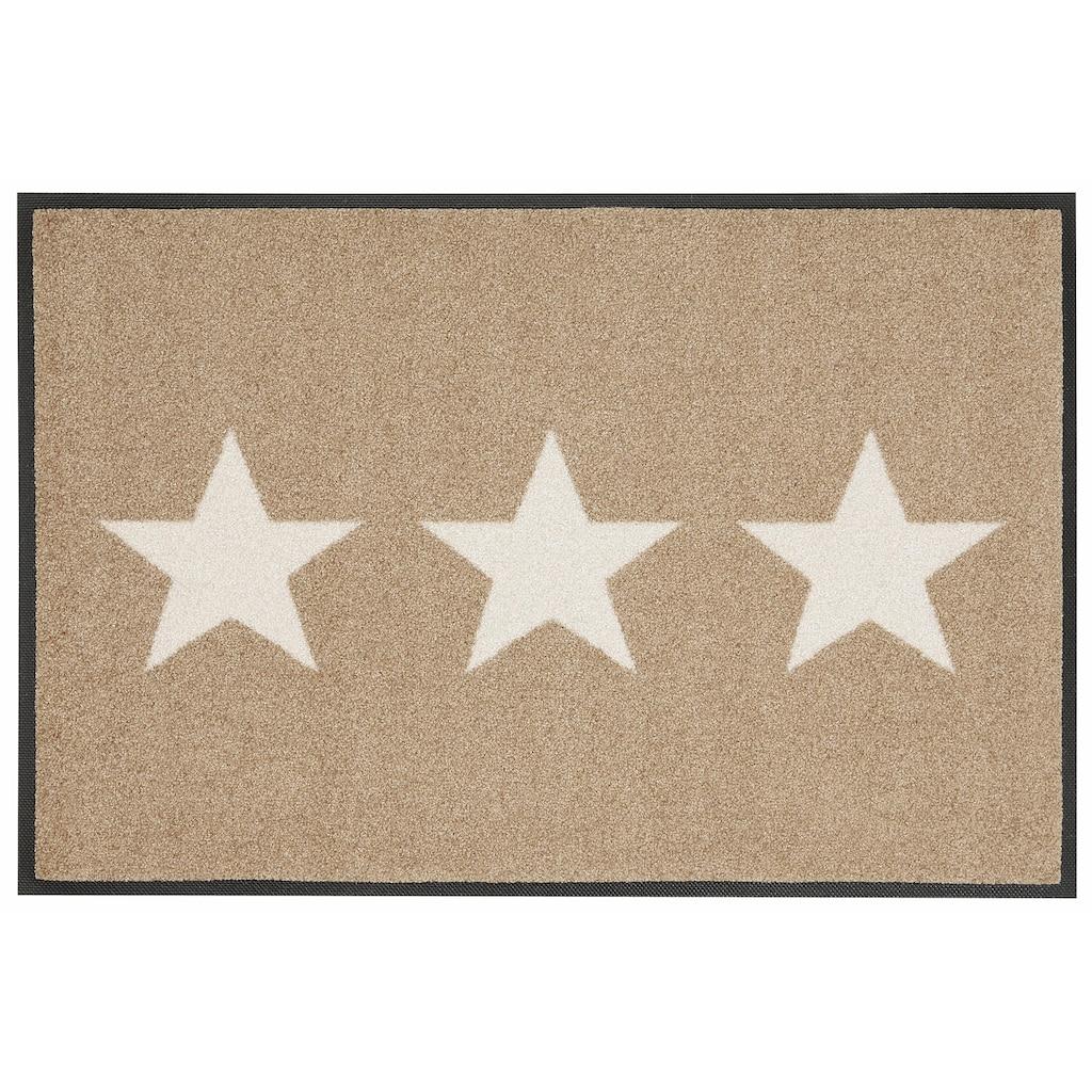 wash+dry by Kleen-Tex Fußmatte »Stars«, rechteckig, 9 mm Höhe, Schmutzfangmatte, In- und Outdoor geeignet, waschbar