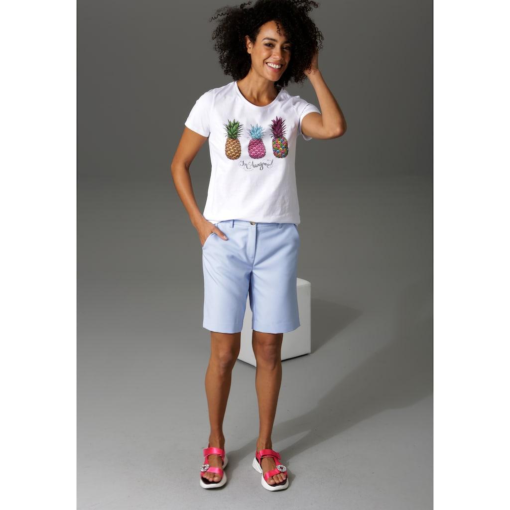 Aniston CASUAL Bermudas, mit kleinem Schlitz am Bein