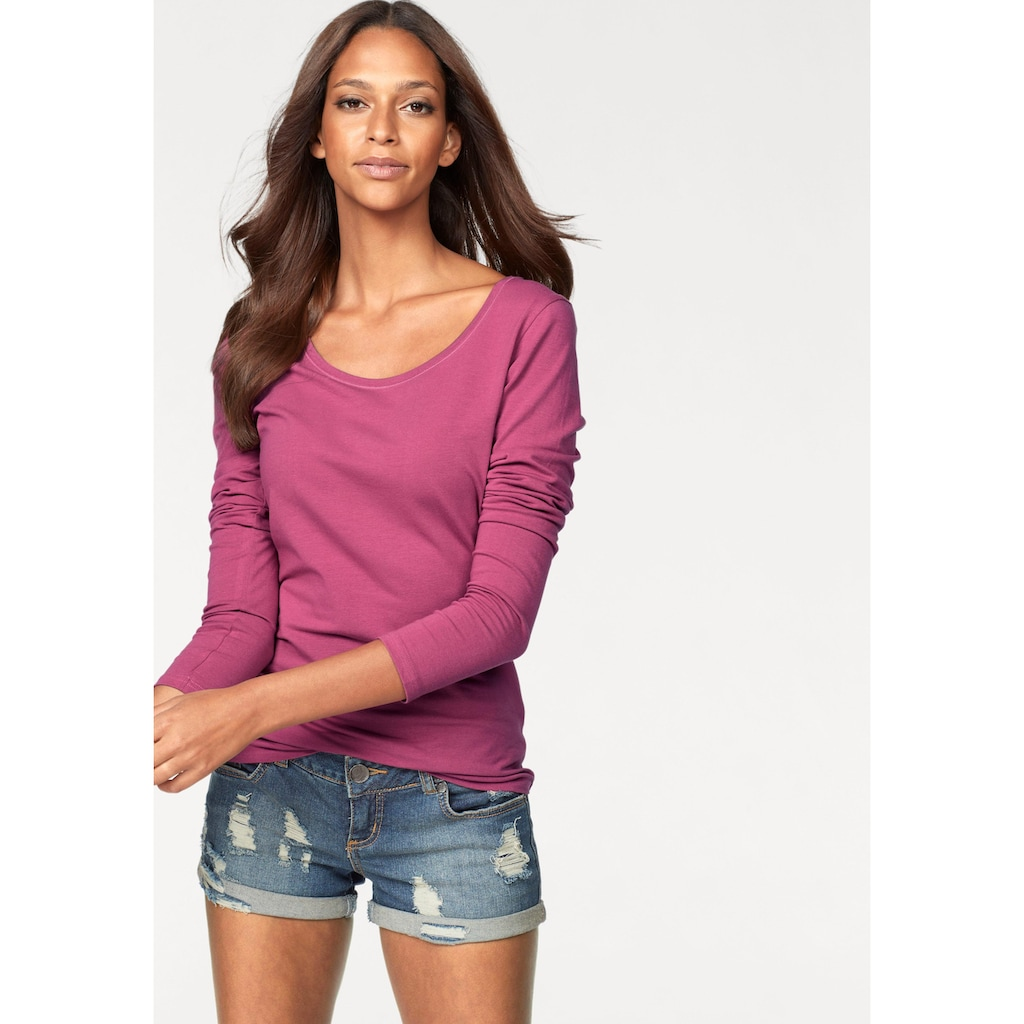 Vivance Langarmshirt, aus elastischer Baumwoll-Qualität