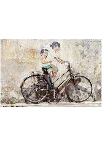 Art & Pleasure Acrylglasbild »Street art bicycle«, Fahrzeuge kaufen
