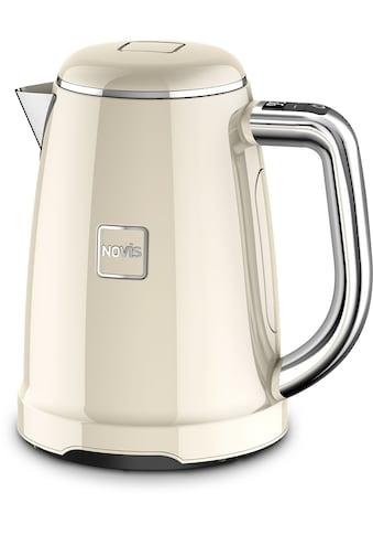 NOVIS Wasserkocher »6114.09.20 Iconic Line - KTC1 creme VDE«, 1,6 l, 2400 W, mit elektronischer Temperatureinstellung kaufen