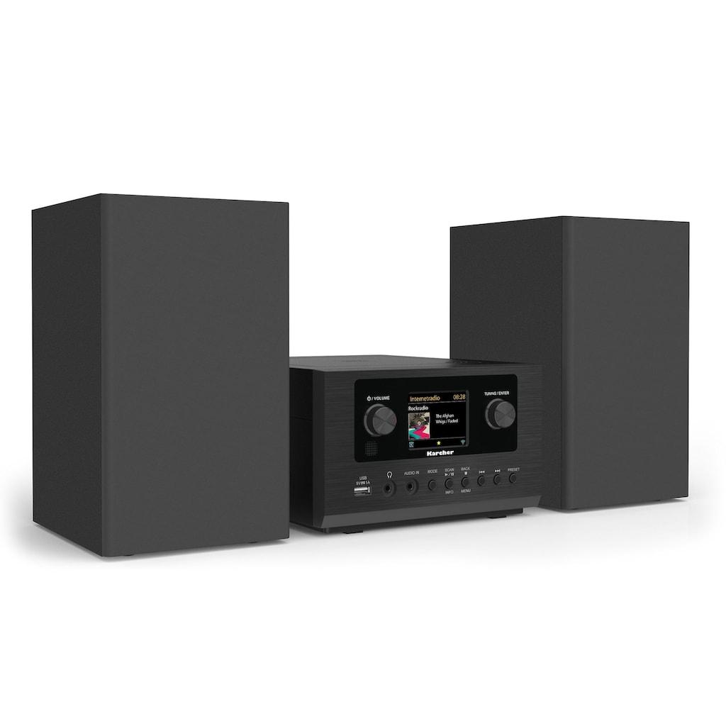 Karcher Stereoanlage »MC 6490DI«, (WLAN-Bluetooth-CD Digitalradio (DAB+)-Internetradio 5 W), mit Bluetooth und Internetradio