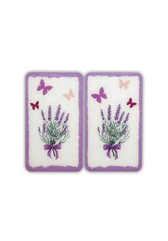 """WENKO Herd - Abdeckplatte """"Lavendel - Bouquet"""", Glas, (Set, 2 - tlg.) kaufen"""