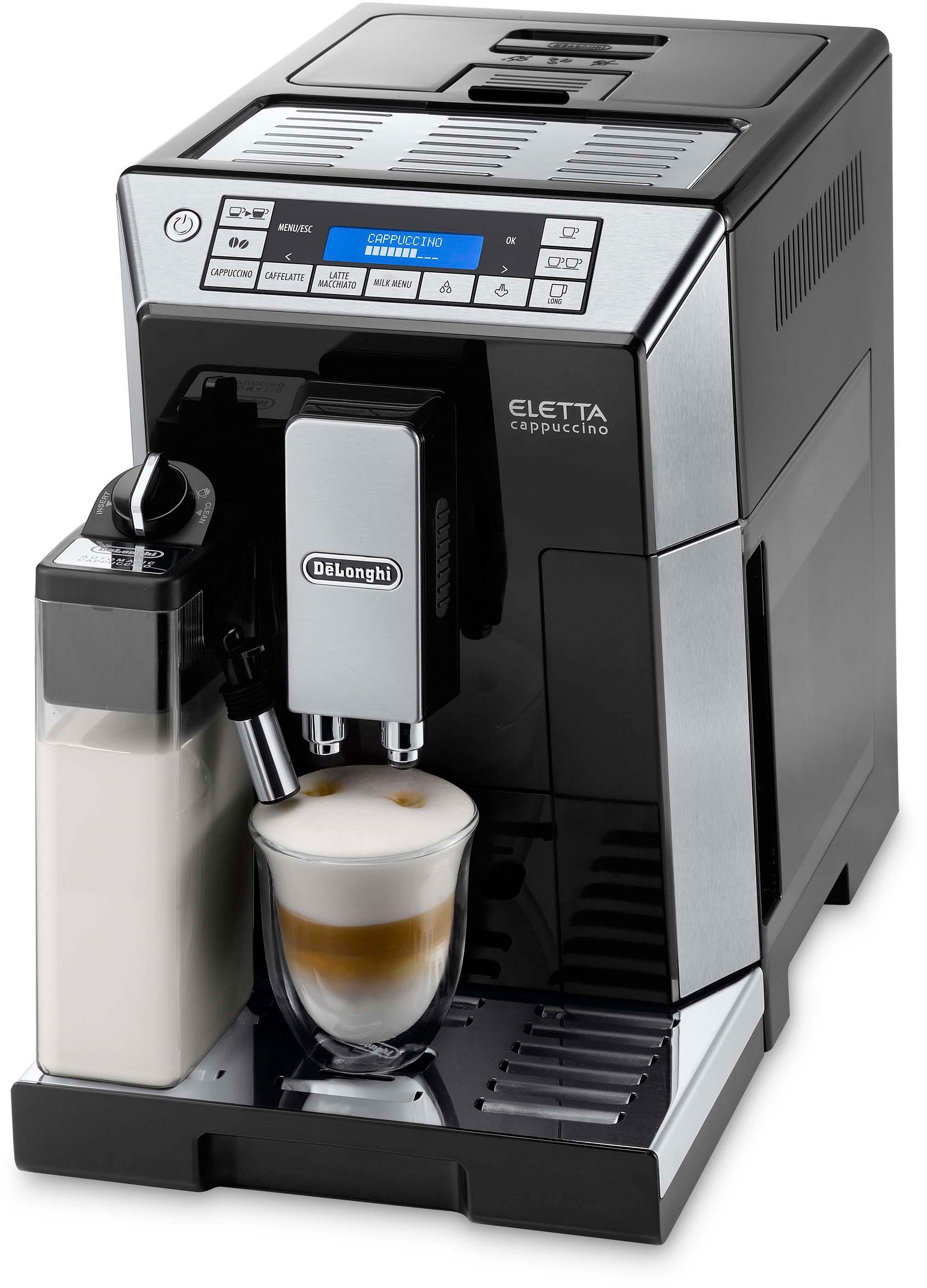 De´Longhi Kaffeevollautomat ECAM 45.766B ELETTA, 1,9l Tank, Kegelmahlwerk | Küche und Esszimmer > Kaffee und Tee > Kaffeevollautomaten | Schwarz | DELONGHI