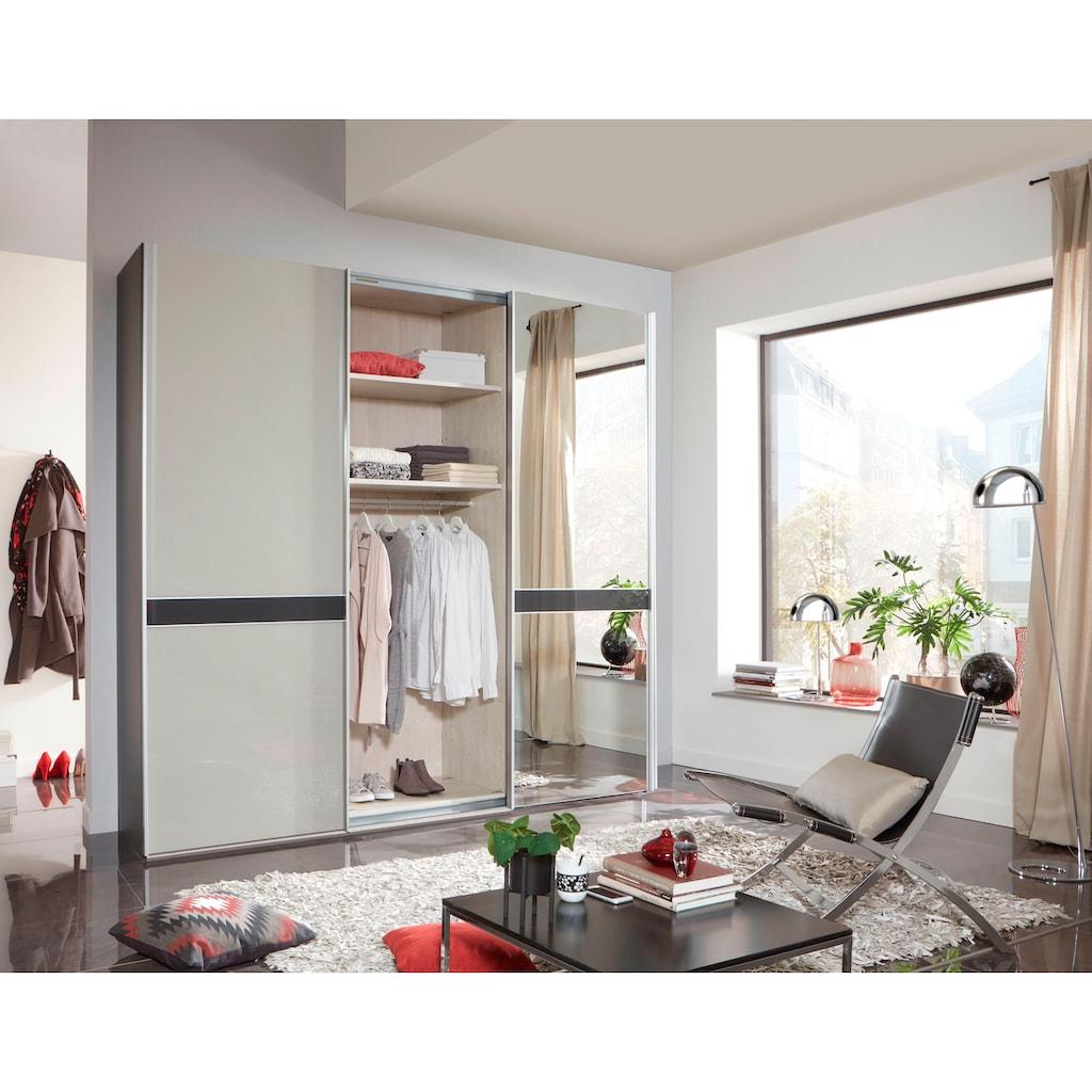 WIEMANN Schwebetürenschrank »Rialto«, hochwertige Glas- und Spiegelfront mit Querriegel