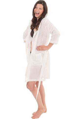 Wewo fashion Damenbademantel »6352«, (1 St., mit Gürtel), aus leichtem Pestemal kaufen