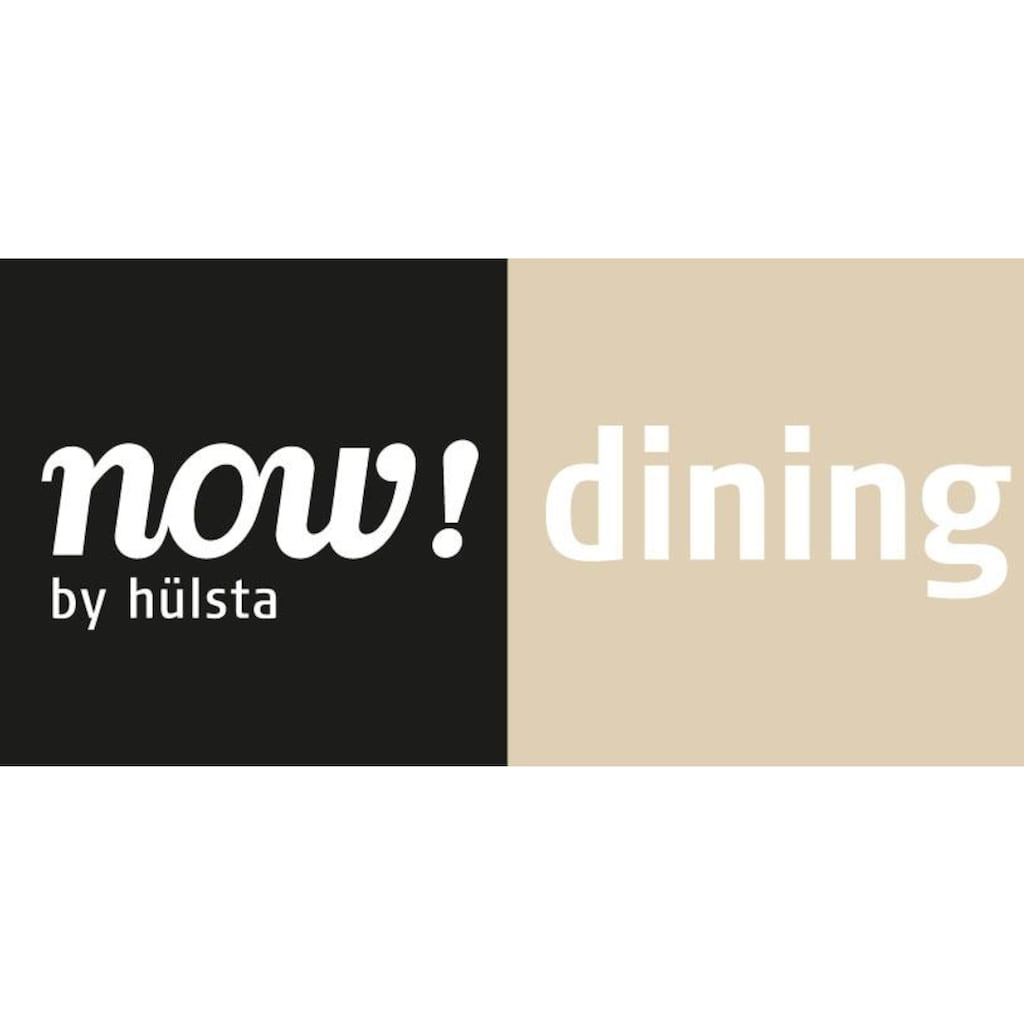 now! by hülsta Esstisch »ET19«, in zwei Breiten, Untergestell aus gebürstetem Edelstahl