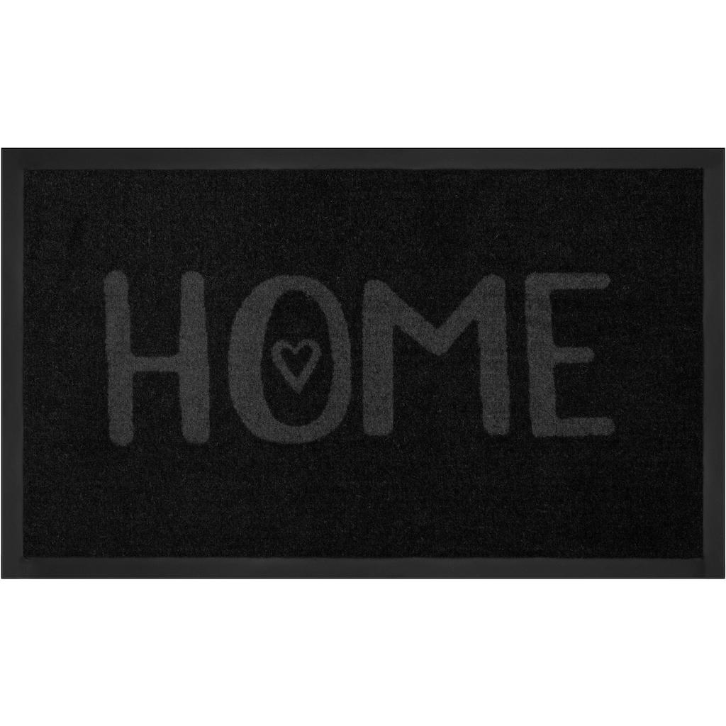 HANSE Home Fußmatte »Lovely Home«, rechteckig, 5 mm Höhe, Schmutzfangmatte, mit Spruch, In- und Outdoor geeignet, waschbar