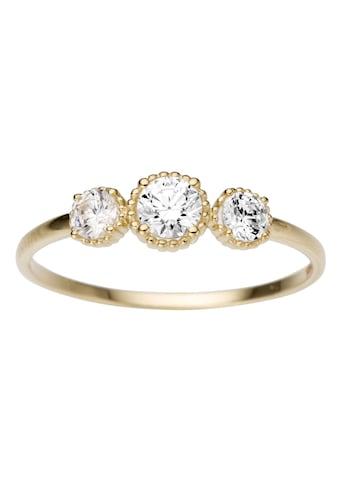 Firetti Goldring »glanz, massiv, drei runde Details, zart, edel« kaufen