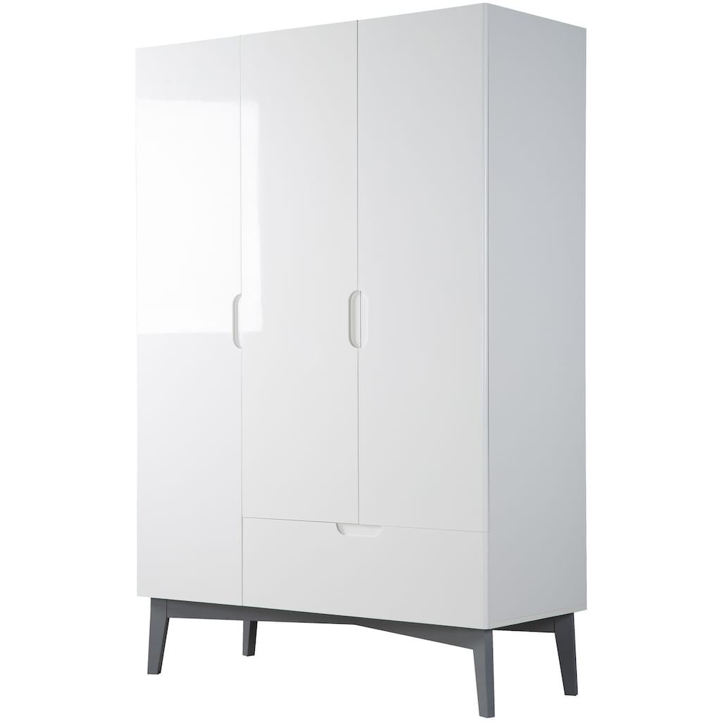 roba® Babyzimmer-Komplettset »Retro 2«, (Set, 3 St.), Made in Europe; mit Kinderbett, Schrank und Wickelkommode