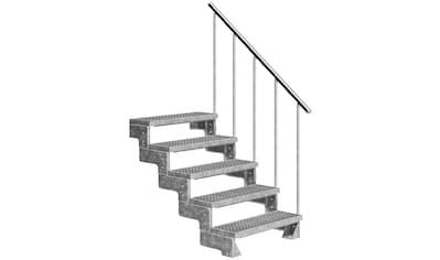 DOLLE Außentreppe »Gardentop«, für Geschosshöhen bis 110 cm, Gitterroststufen 100 cm kaufen