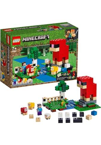 """LEGO® Konstruktionsspielsteine """"Die Schaffarm (21153), LEGO® Minecraft™"""", Kunststoff, (260 - tlg.) kaufen"""