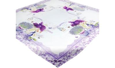 Delindo Lifestyle Mitteldecke »Lavendel TÖPFCHEN«, (1 St.), Strukturgewebe, bedruckt kaufen