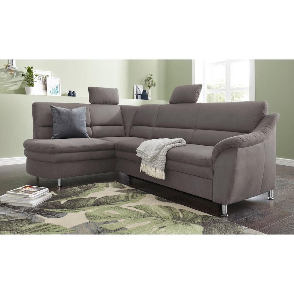 sit&more Ecksofa, mit Federkern, wahlweise mit Bettfunktion und Schubkasten