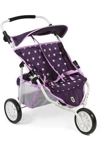 CHIC2000 Puppen-Zwillingsbuggy »Jogger, Stars lila«, 3-Rad kaufen